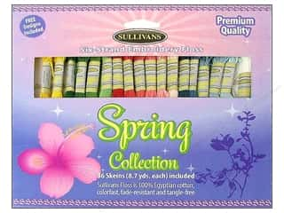 Yarn & Needlework Floss: Sullivans Embroidery Floss Pack 36 Skeins Spring