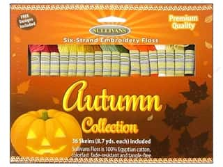 Yarn & Needlework Floss: Sullivans Embroidery Floss Pack 36 Skeins Autumn