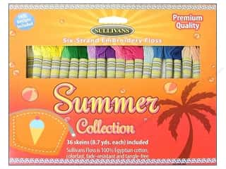 Stitchery, Embroidery, Cross Stitch & Needlepoint Sullivans Embroidery Floss: Sullivans Embroidery Floss Pack 36 Skeins Summer