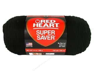 Red Heart Super Saver Jumbo Yarn Black 14 oz.