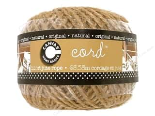 Jute Cording/Rope Macrame / Weaving: Canvas Corp Jute Cord Ball 225 ft. Natural