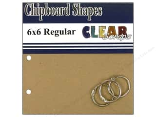 "Clear Scraps Album Chip 6""x 6"" Square Regular"