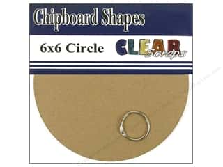 "Clear Scraps Album Chip 6""x 6"" Circle"