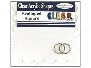 "Clear Scraps Album Clear 7""x 7"" Scallop"
