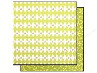 Bazzill 12 x 12 in. Paper Argyle Green/Flower Power Green 25 pc.