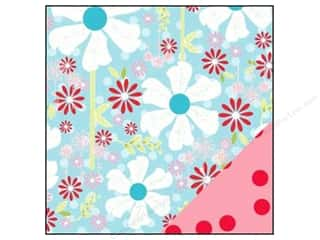 Bazzill Blue: Bazzill 12 x 12 in. Paper Divinely Sweet Pinwheel Garden/Red Polka Dot 25 pc.