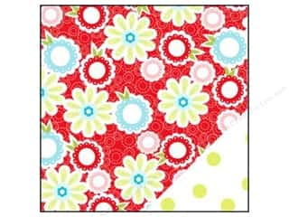 Bazzill Blue: Bazzill 12 x 12 in. Paper Divinely Sweet Tisket A Tasket Red/Green Dot 25 pc.