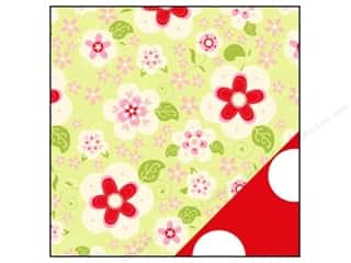 Bazzill dotted swiss cardstock: Bazzill 12 x 12 in. Paper Divinely Sweet Sweet Daisy Green/ White Dot 25 pc.