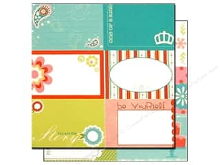 Clearance Bazzill Lickety Slip Journaling Cards: Bazzill 12 x 12 in. Paper Lickety Slip Divinely Sweet Horizontal 25 pc.