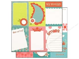 Clearance Bazzill Lickety Slip Journaling Cards: Bazzill 12 x 12 in. Paper Lickety Slip Divinely Sweet Vertical 25 pc.