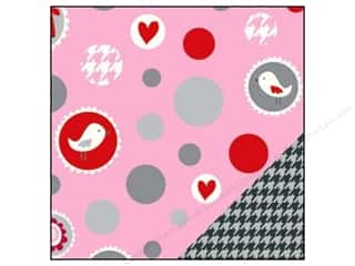 Bazzill Paper 12x12 Love Story Ball/Grey Houndstooth
