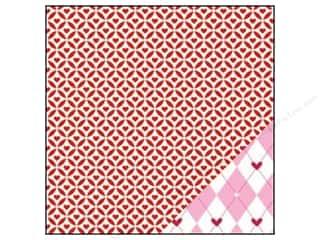 Bazzill Paper 12x12 Love Story Cathedral Hearts/Argyle