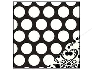 Bazzill Paper 12x12 Jumbo Dot/Black Love Story Potion