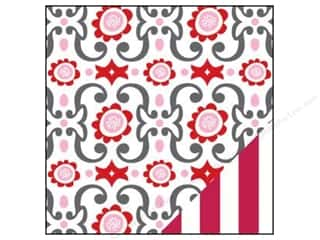 Bazzill Paper 12x12 Love Story Me Tender/Red Stripe