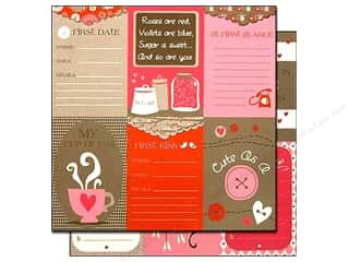 Bazzill 12 Sheets: Bazzill 12 x 12 in. Paper Lickety Slip Love Story Vertical 25 pc.