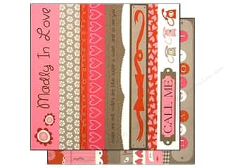 Bazzill paper 12x12: Bazzill 12 x 12 in. Paper Lickety Slip Love Story Borders 25 pc.