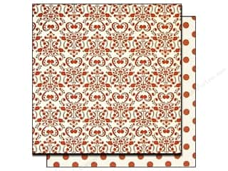 Bazzill Paper 12x12 Red Love Story Potion/Red Dots