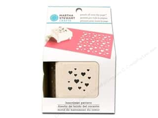 Valentine's Day Scrapbooking & Paper Crafts: Martha Stewart Punch All Over The Page Heartbeat Pattern