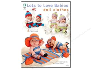 "Clearance Red Heart Baby Clouds Yarn: Lots To Love Babies Doll Clothes 8"" & 10"" Book"