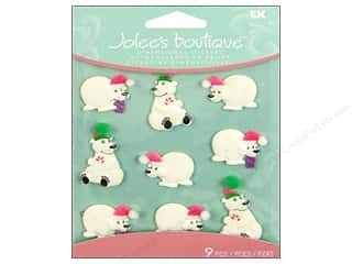 Jolee's Boutique Cabochons Holiday Polar Bears