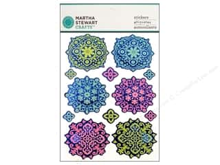 martha stewart: Martha Stewart Sticker Modern Damask Layered Ornament