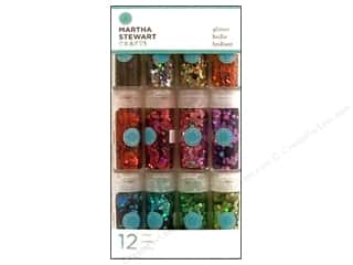 March Madness Sale Glitter Blast: Martha Stewart Glitter Iridescent Hexagonal 12pc