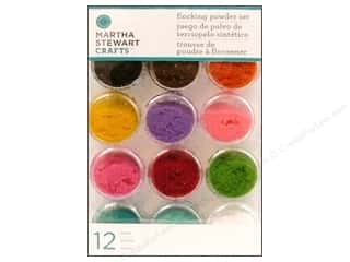 Powder Flock Orange: Martha Stewart Glitter Flocking Powder 12pc