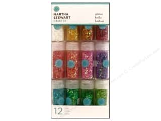 Martha Stewart Crafts: Martha Stewart Glitter Iridescent Vintag Leaf 12pc