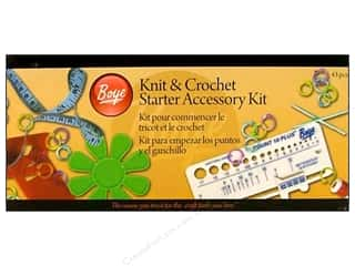 Bulky yarn: Boye Knit & Crochet Starter Accessory Kit