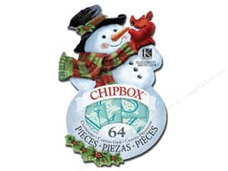 ABC & 123 Chipboard: K&Company Chipboard Chipbox Elizabeth Brownd Visions of Christmas Snowman