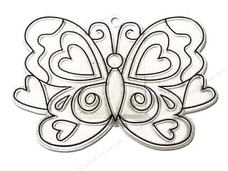 Kelly's Plastic Shapes: Kelly's Suncatchers Heart Butterfly (3 pieces)