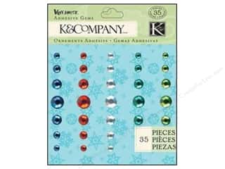 K&Co Adhesive Embellishments Gems Very Merry