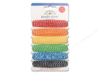 Doodlebug Doodle Twine Assorted Primary 6pc