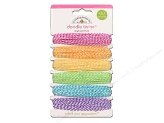 Doodlebug Doodle Twine Assorted Brights 6pc