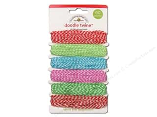 Doodlebug Doodle Twine Assorted Christmas 6pc