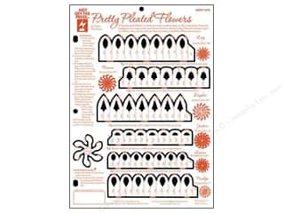 Hot off the Press Black: Hot Off The Press Templates Pretty Pleated Flowers