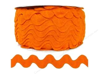 Cheep Trims Ribbons / Fabrics / Threads / Cords: Ric Rac by Cheep Trims  1 in. Orange (24 yards)