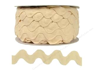 Cheep Trims Sewing Ribbon: Ric Rac by Cheep Trims  1 in. Ivory (24 yards)