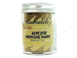 Stampendous Stampendous Fran-Tage: Stampendous Fran-Tage Emboss Tinsel .60oz Aged Gold