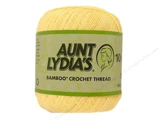 Aunt Lydia&#39;s Bamboo Crochet Thread Size 10 Buttercup