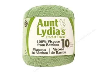 Weekly Specials knitting: Aunt Lydia's Bamboo Crochet Thread Size 10 Zen Green