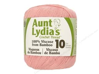 Best of 2013 Sale Aunt Lydia: Aunt Lydia's Bamboo Crochet Thread Size 10 Pure Pink