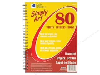 Art, School & Office Drawing Supplies: Loew Cornell Simply Art Drawing Paper Pad 80sht