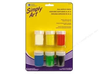 Loew Cornell Blue: Loew Cornell Simply Art Acrylic in Storage Cup 6pc
