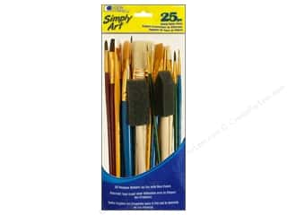 Machine Lint Brushes Black: Loew Cornell Simply Art Brush Value Pack 25pc