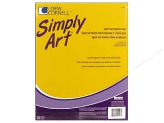 Loew Cornell Simply Art Acrylic Paper Pad 10sht