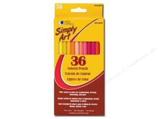 Art, School & Office Drawing Supplies: Loew Cornell Simply Art Colored Pencils 36pc