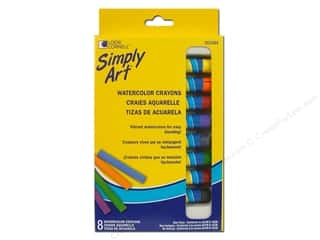 Loew Cornell Green: Loew Cornell Simply Art Watercolor Crayons 8pc