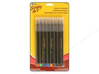 Weekly Specials DecoArt Glass Paint Marker: Loew Cornell Simply Art Brush Tip Markers 8pc