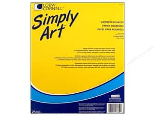 Office Pads: Loew Cornell Simply Art Watercolor Paper Pad 25sht
